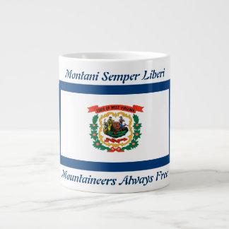 Bandera y lema de Virginia Occidental taza de 20 o