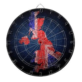 Bandera y mapa BRITÁNICOS Tablero Dardos