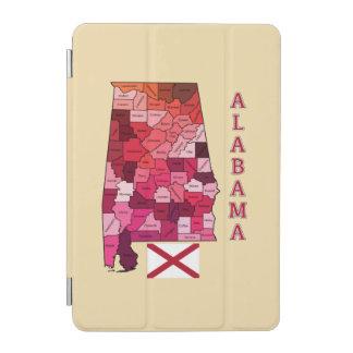Bandera y mapa de Alabama Cover De iPad Mini