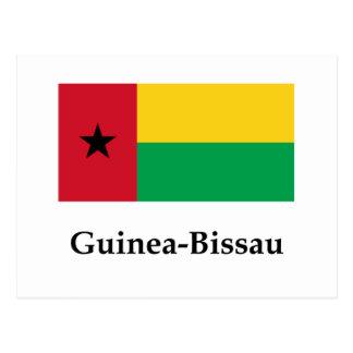 Bandera y nombre de Guinea-Bissau Postal