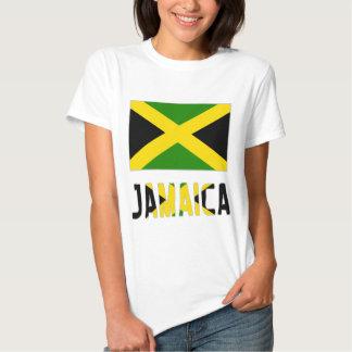 Bandera y palabra de Jamaica Camisetas