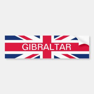 Bandera y pegatina para el parachoques británicas