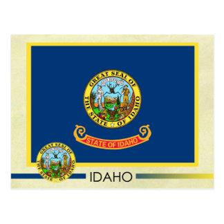 Bandera y sello del estado de Idaho Postal