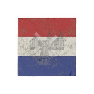 Bandera y símbolos de los Países Bajos ID151 Imán De Piedra