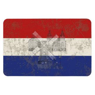 Bandera y símbolos de los Países Bajos ID151 Imán Flexible