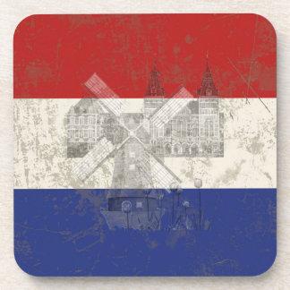 Bandera y símbolos de los Países Bajos ID151 Posavasos