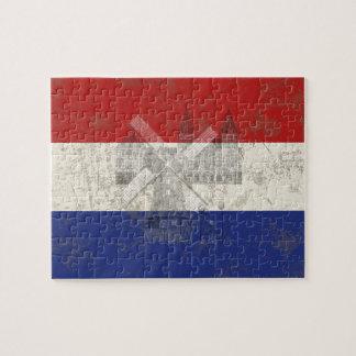 Bandera y símbolos de los Países Bajos ID151 Puzzle