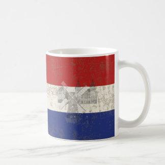 Bandera y símbolos de los Países Bajos ID151 Taza De Café