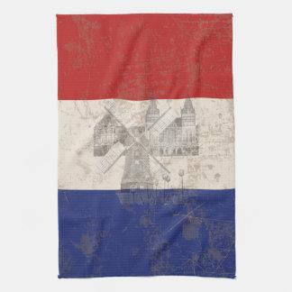 Bandera y símbolos de los Países Bajos ID151 Toallas