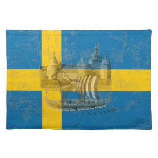 Bandera y símbolos de Suecia ID159 Salvamanteles