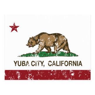 Bandera Yuba City del estado de California Postal