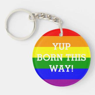 Bandera Yup del arco iris del orgullo gay llevado Llaveros