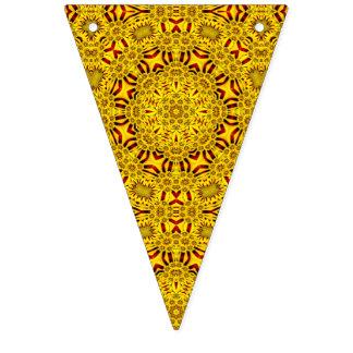 Banderas amarillas del caleidoscopio del vintage