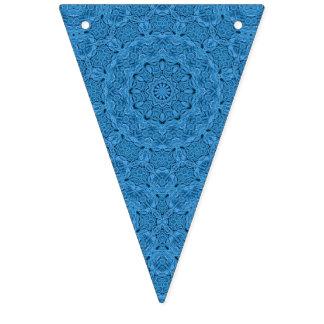 Banderas azules decorativas del empavesado del