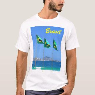 Banderas brasileñas camiseta