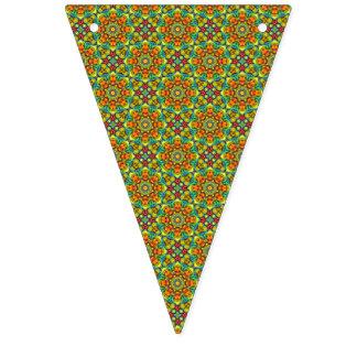 Banderas coloridas del caleidoscopio del vintage