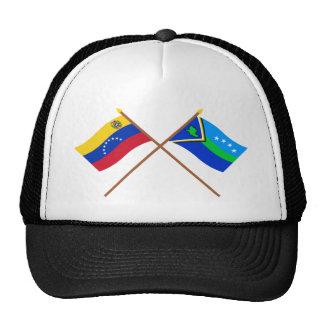 Banderas cruzadas de Amacuro de Venezuela y del de Gorros
