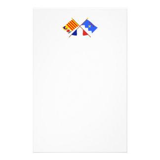 Banderas cruzadas de PACA y de Alpes-de-Haute-Prov Papeleria
