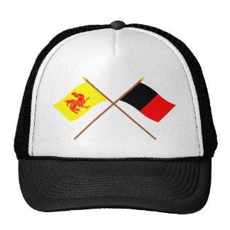 Banderas cruzadas de valón y de Namur Gorras De Camionero