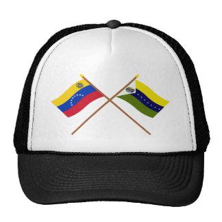 Banderas cruzadas de Venezuela y de Apure Gorros