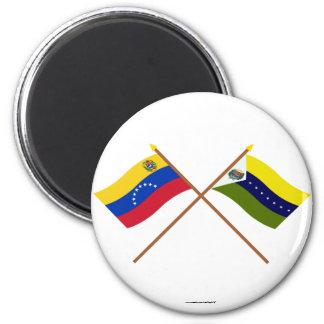 Banderas cruzadas de Venezuela y de Apure Imanes De Nevera