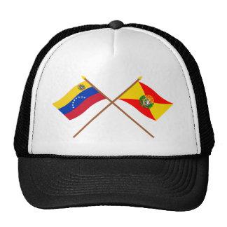 Banderas cruzadas de Venezuela y de Aragua Gorras De Camionero