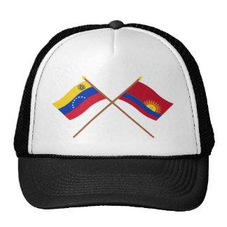 Banderas cruzadas de Venezuela y de Carabobo Gorros