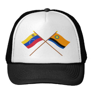 Banderas cruzadas de Venezuela y de Cojedes Gorros