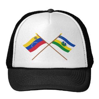 Banderas cruzadas de Venezuela y de Guárico Gorros