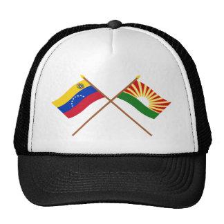 Banderas cruzadas de Venezuela y de Lara Gorras