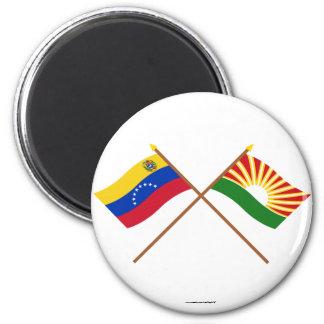 Banderas cruzadas de Venezuela y de Lara Iman De Frigorífico