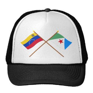 Banderas cruzadas de Venezuela y de Mérida Gorra
