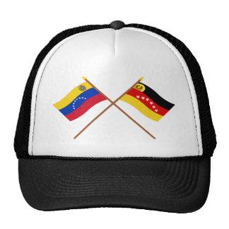 Banderas cruzadas de Venezuela y de Miranda Gorro