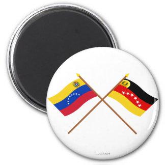 Banderas cruzadas de Venezuela y de Miranda Iman