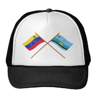 Banderas cruzadas de Venezuela y de Monagas Gorros
