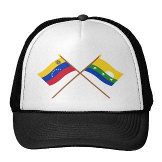 Banderas cruzadas de Venezuela y de Nueva Esparta Gorras De Camionero