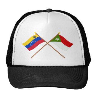 Banderas cruzadas de Venezuela y de Trujillo Gorras