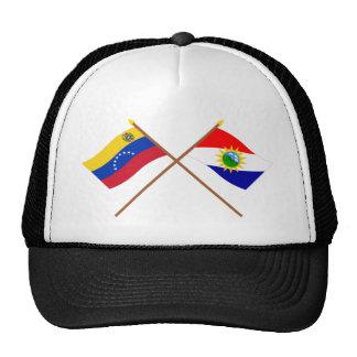 Banderas cruzadas de Venezuela y de Yaracuy Gorro
