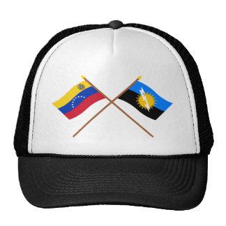 Banderas cruzadas de Venezuela y de Zulia Gorro