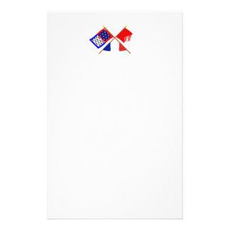 Banderas cruzadas del Pays-de-la-Loire y de Vendée Papelería