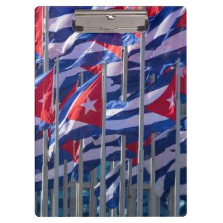 Banderas cubanas, La Habana, Cuba Carpeta De Pinza