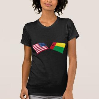 Banderas de los E.E.U.U. y de Guinea-Bissau Camisetas