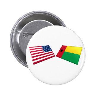 Banderas de los E E U U y de Guinea-Bissau Pin