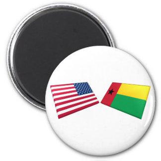 Banderas de los E E U U y de Guinea-Bissau Imán De Nevera