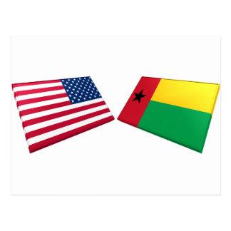 Banderas de los E.E.U.U. y de Guinea-Bissau Postal