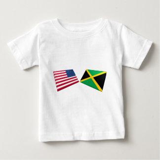 Banderas de los E.E.U.U. y de Jamaica Camisas