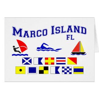 Banderas de señal de FL de la isla de Marco Tarjeta
