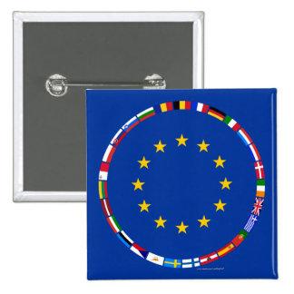 Banderas de unión europea pins