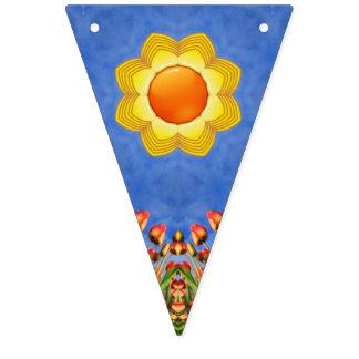 Banderas del caleidoscopio del vintage    del día