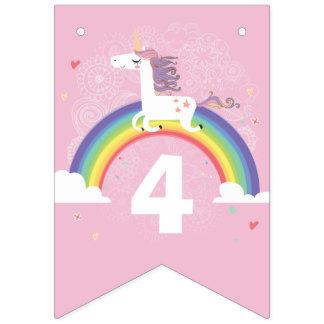 Banderas del empavesado del unicornio del arco